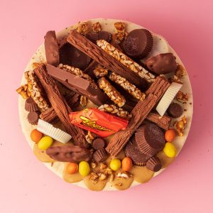 top of reeses cheesecake